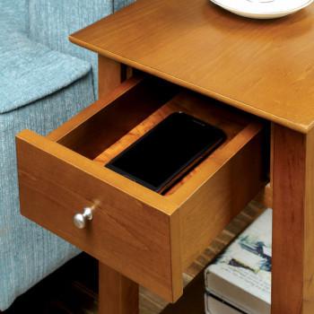 Indiana Oak Side Table W/Drawer