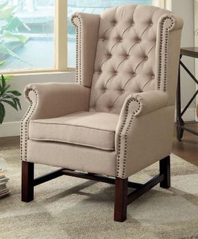 Kara Accent Chair- Beige