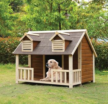 Westbury Premium Dog House- Cream/Oak