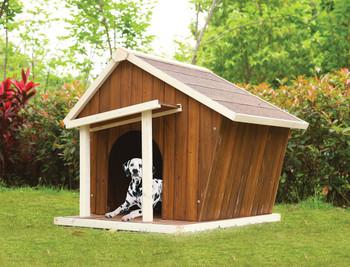 Worthington Premium Dog House- Cream/Oak