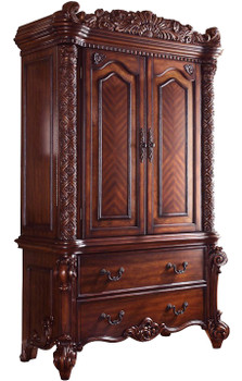"Crownwood Cherry 55"" Wide TV Armoire"