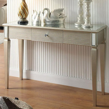 Dakota Console Table- Silver