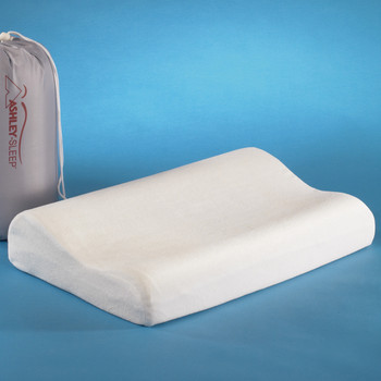 "PLUSHMERE 20"" Wide Contour Bed Pillow"