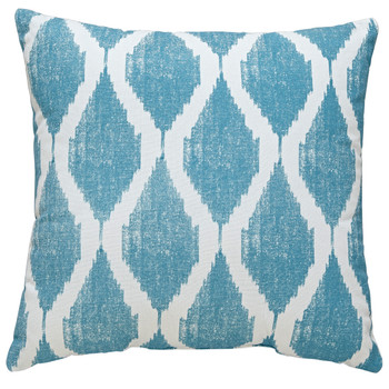 Bruce Turquoise/White Pillow