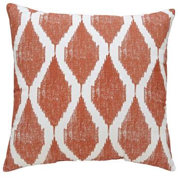 Bruce Orange/White Pillow