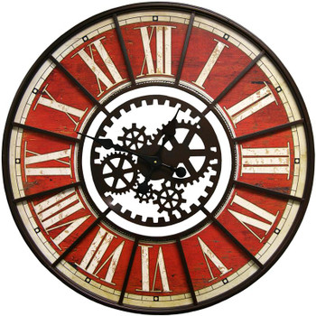 Makina Red Wall Clock