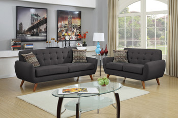 Marley Black Sofa & Loveseat