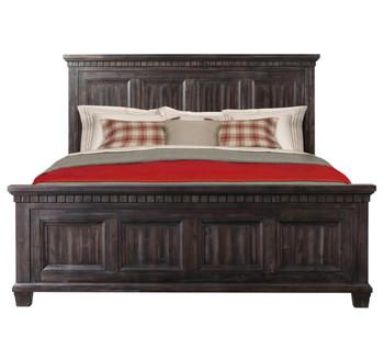 Santa Fe Weathered Grey/Oak finish 6-PC Bedroom Set - CB ...
