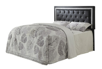 Adri Black Leather Headboard