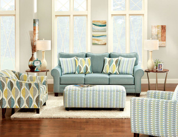 Aleph Soft Teal Sofa