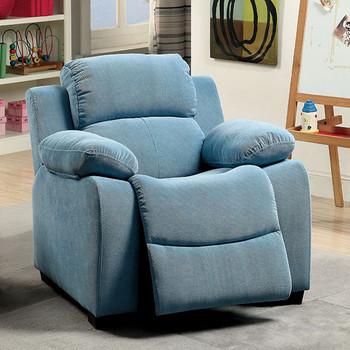Delburne Blue Kids Reclining Chair