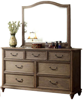 Aldin Rustic Natural Tone 6-PC Bedroom Set