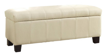 Bailey Taupe Storage Bench