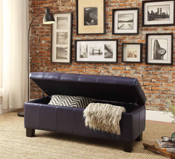 Bailey Purple Storage Bench