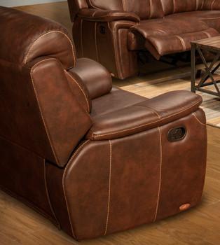 Legend Brown Top Grain Leather Recliner
