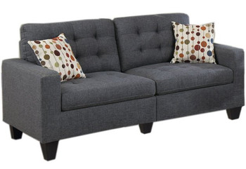 Tempoe Blue Gray Living Room Set