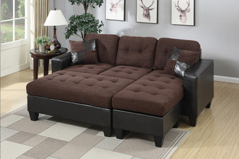 Bloomington Chocolate Sectional With Ottoman