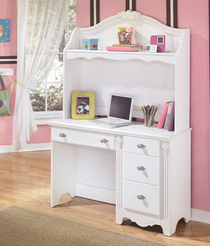 MARIE 46'' Wide Bedroom Desk & Hutch