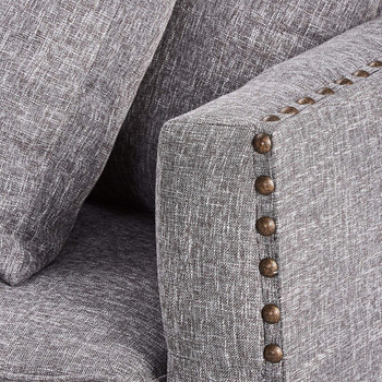 Aina Grey Fabric Sofa