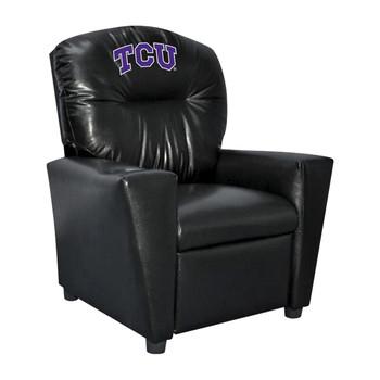 TCU University Faux Leather Kids Recliner