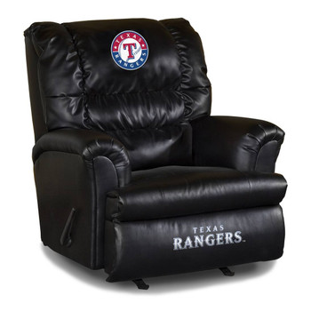 Texas Rangers Black Leather Big Boy Recliner