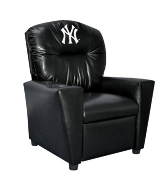 New York Yankees Black Faux Leather Kids Recliner