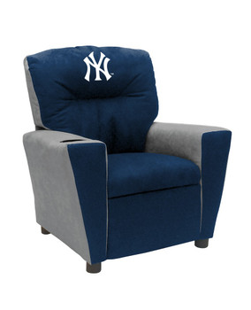 New York Yankees Blue/Grey Microfiber Kids Recliner