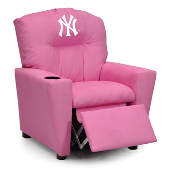 New York Yankees Pink Microfiber Kids Recliner