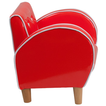 Red Vinyl Kids Chair