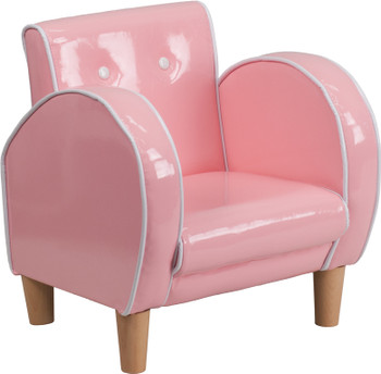 Pink Vinyl Kids Chair