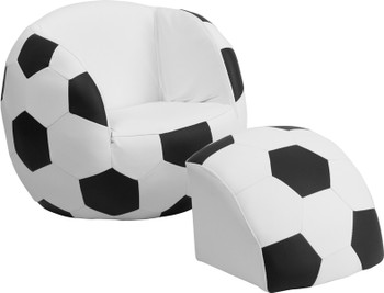 Soccer Chair With Footstool
