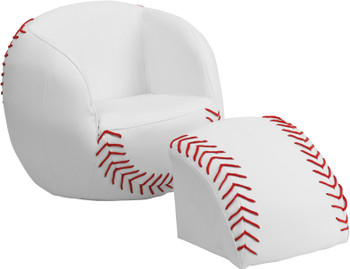 Baseball Chair With Footstool