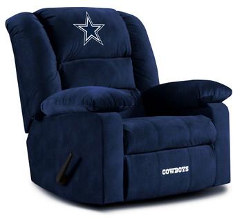 "HUDDLE Dallas Cowboys 38"" Wide Blue Fabric Recliner"