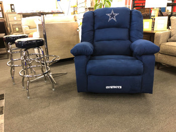 Dallas Cowboys Blue Microfiber Recliner