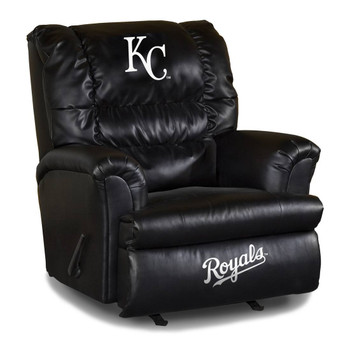 Kansas City Royals Black Leather Big Boy Recliner