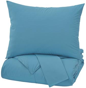 Plainfield Aqua Top of Bed Set