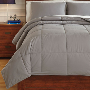 Plainfield Gray Top of Bed Set
