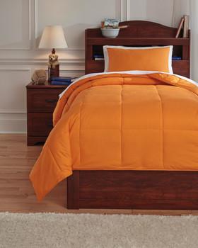 Plainfield Orange Top of Bed Set