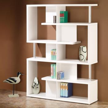 Courier White Bookshelf