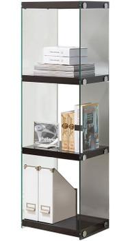 Tammy 3 Shelves Black Bookcase