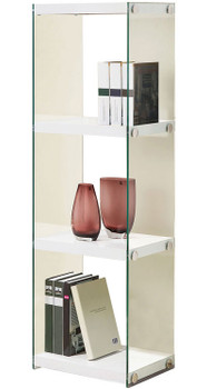 Tammy 3 Shelves White Bookcase