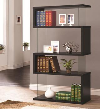 Finn Black Bookcase
