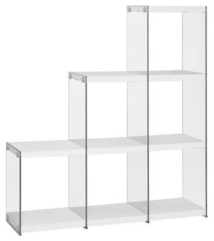 Finn White Cubed Bookcase