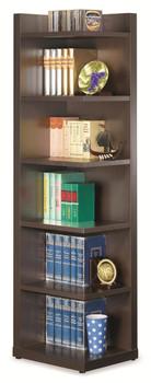 Abe Cappuccino Corner Bookcase
