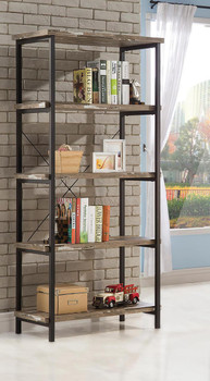 Hinge Natural and Black Bookcase