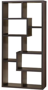 "COLM Dark Brown 35"" Wide Bookcase"