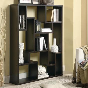 Macyn Cappuccino Bookcase