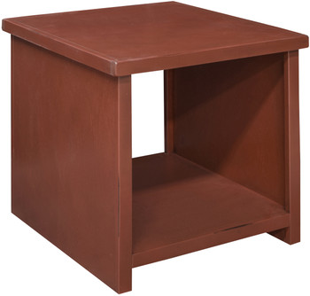 Villa Rustic Red End Table