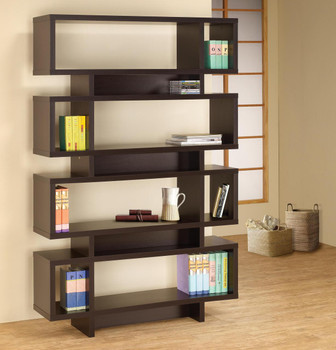 Sable Cappuccino Bookcase