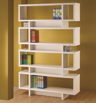 Sable White Bookcase